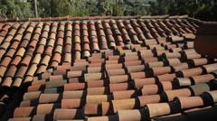 Slate Roof Stock Footage