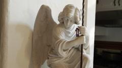 Cherub Statue Stock Footage