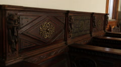 Decorative Pews Stock Footage