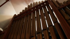 Organ Pipes - stock footage