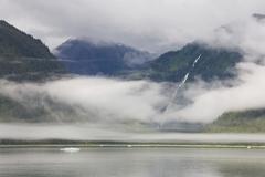 Stock Photo of clouds, endicott arm, inside passage, southeast alaska, usa
