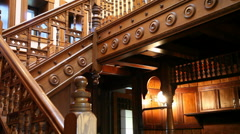 Baroque-Style Staircase Stock Footage