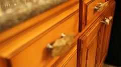 Wooden Cupboard - stock footage