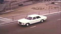 Car On Highway - Vintage 16mm Film Stock Footage