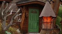 Green Door Stock Footage