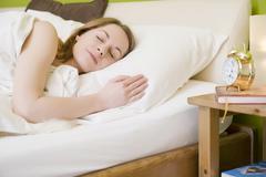 woman sleeping, 25+ - stock photo