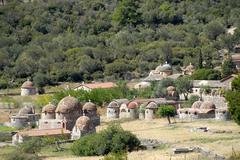 greek-orthodox christianity, monastery complex with many chapels, moni limono - stock photo
