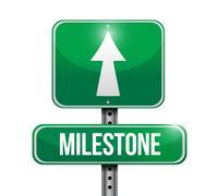 Milestone sign post illustration design Stock Illustration