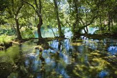 calm waters, krka national park, dalmatia, croatia, europe - stock photo