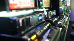 Casino Slot Machines Panning Shot - stock footage