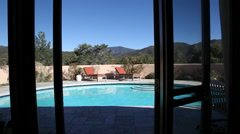 Outdoor Poolside Stock Footage