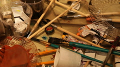 Paint Instruments Stock Footage