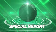 green special report news generic - stock footage