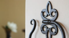 Decorative Towel Hook Stock Footage