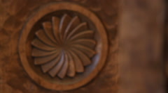 Intricate Carving - stock footage