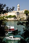 The town krk on the island krk in croatia Stock Photos