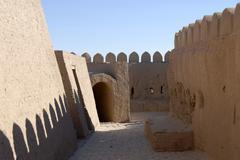 Battlement at the bastion of the city wall ko\'xna ark itchan kala khiva uzbe Stock Photos