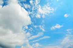 Soft clouds in the blue Stock Photos