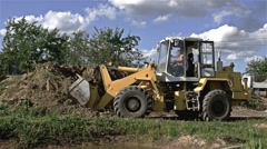 Loader Excavator In Action - stock footage