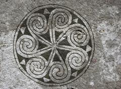 Detail of a viking picture stone in bro, gotland, sweden Stock Photos