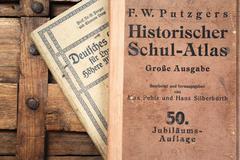 old school books - stock photo