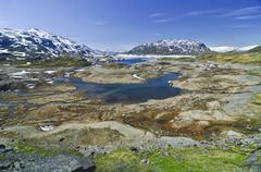 fjell-landscape, norway - stock photo