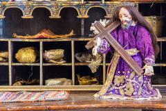 Historic old jesus statue Stock Photos