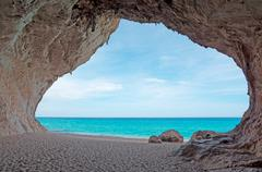 cala luna cave - stock photo
