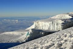Rebmann gletscher glacier crater rim kilimanjaro tanzania *** important: non  Stock Photos