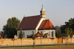 Stock Photo of st stephan chapel, wuelfershausen an der saale, rhoen-grabfeld, franconia, ba