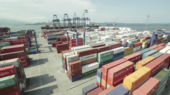 Aerial Image of a Port #5 Stock Footage