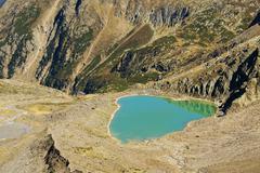 Stock Photo of glacial lake called blaue lacke in stubai valley, tyrol, austria