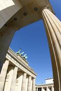 Brandenburger gate, pariser platz, berlin, germany Stock Photos