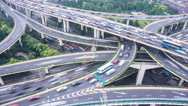 Stock Video Footage of 4k resolution city traffic junction time lapse