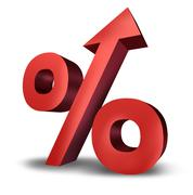 Rising interest rates Stock Illustration
