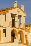 typical andalusian house, estepona, spain - stock photo
