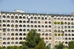 socialistic flat house tashkent uzbekistan - stock photo