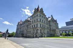 New york state capitol building, albany Stock Photos
