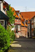 Untere ohlingerstrasse in the old part of town, lueneburg, lower saxony, germ Stock Photos