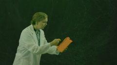 Radiation check checking powder Stock Footage