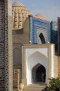 Stock Photo of detail iwan and cupola necropolis shah-i-zinda samarkand uzbekistan