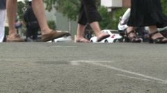 Police Activity with Foot traffic. Stock Footage