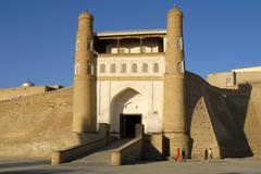 Entrance portal to the ark fortress bukhara uzbekistan Stock Photos