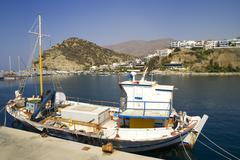 Port of agia galini, crete, greece, europe Stock Photos