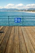 Santa Monica Boardwalk Stock Photos