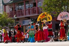 Los Angeles Chinatown Parade Stock Photos
