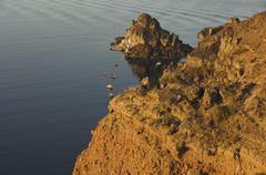 Stock Photo of cape agios nikolaos, oia, santorini, cyclades, aegean sea, greece
