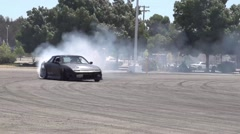 Drift Car Tire Smokeout Stock Footage