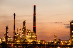 View of the refinery petrochemical plant in gdansk, poland Stock Photos