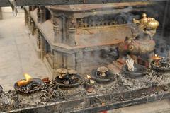 swayambhunat tempel, kathmandu, nepal - stock photo